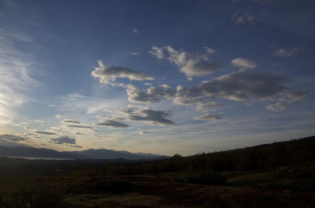 Kungsleden 새벽 하늘