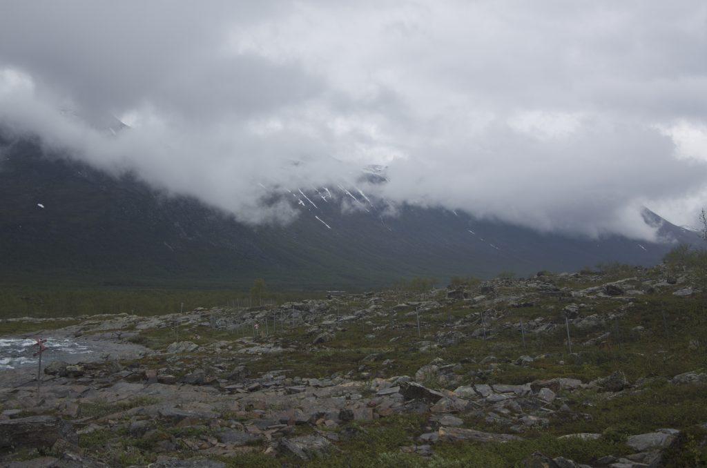 Kaitumjaure에서 Teusajaure로 가는 길은 이런 돌길이 많다. 돌길은 더욱 힘이 든다.