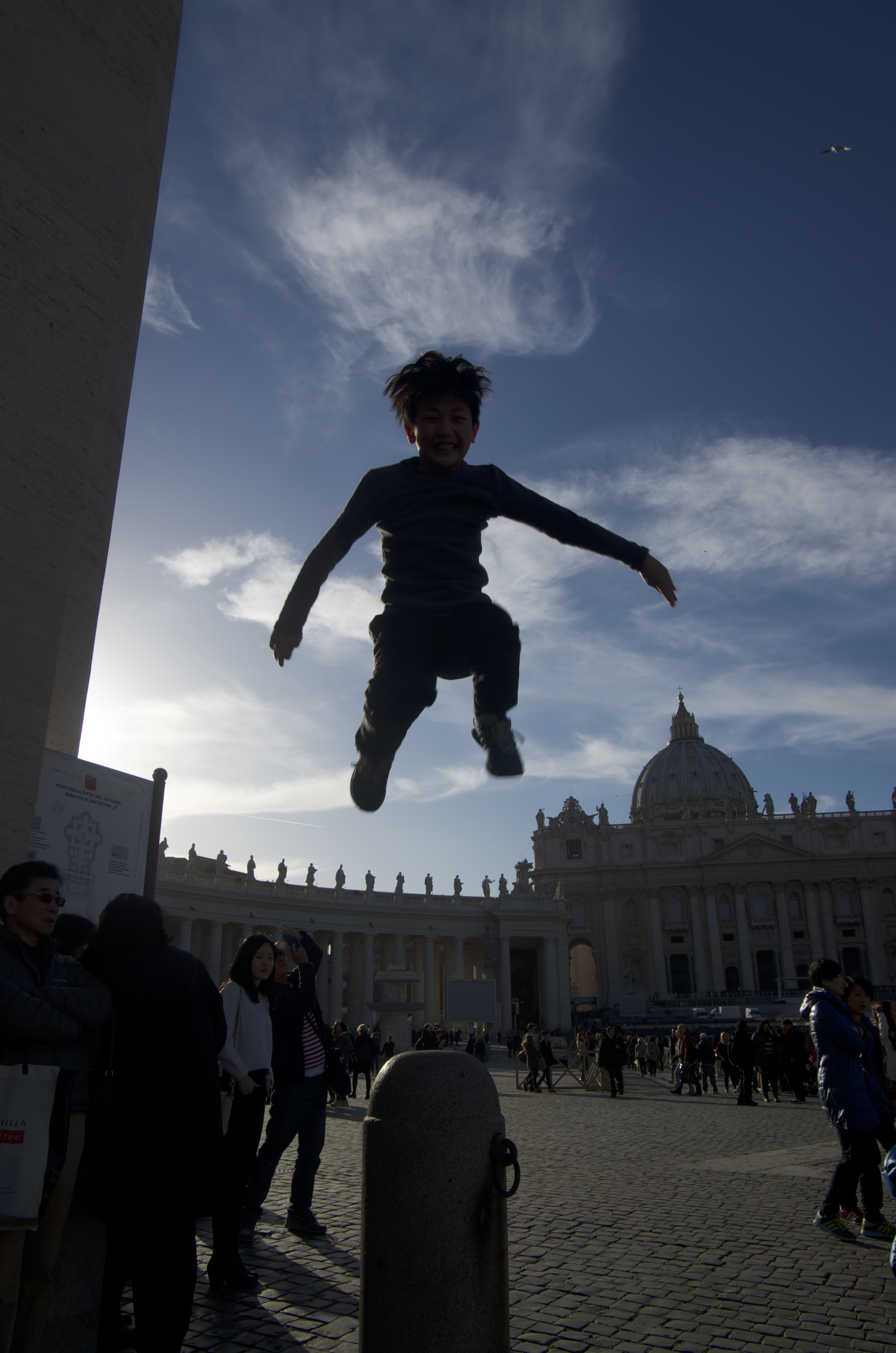 Jump in Vatican City