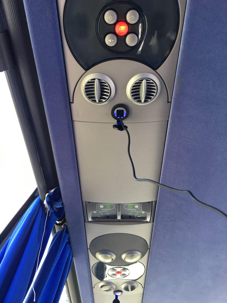 Bus에 있는 USB 충전 단자