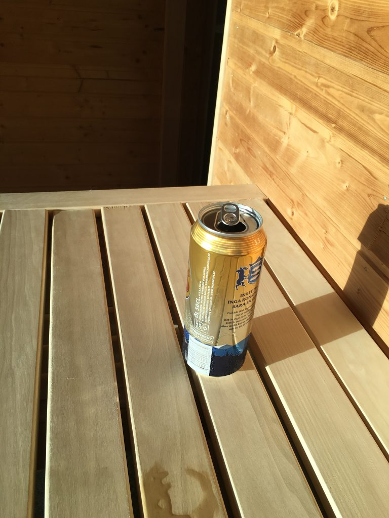Beer in Sauna
