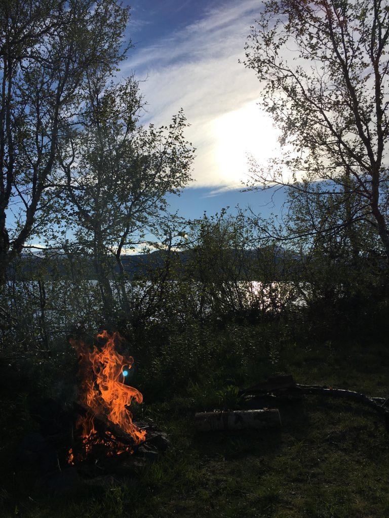 Campfire in Sitojaure