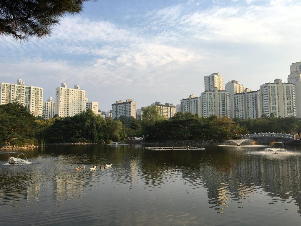 분당 중앙공원 호수