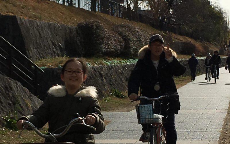 교토 가모가와 자전거