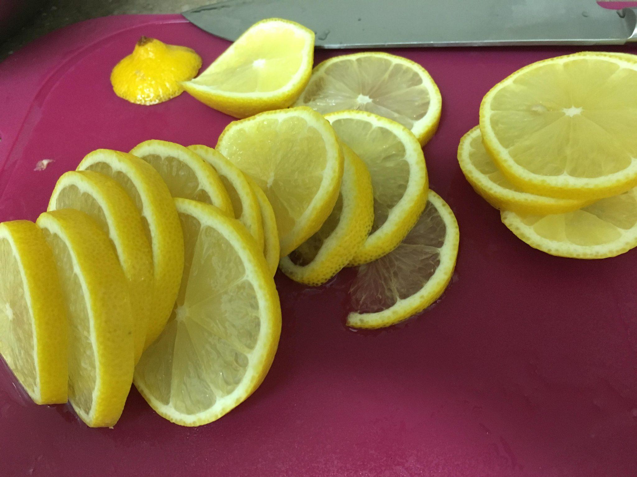 레몬 편 썰기