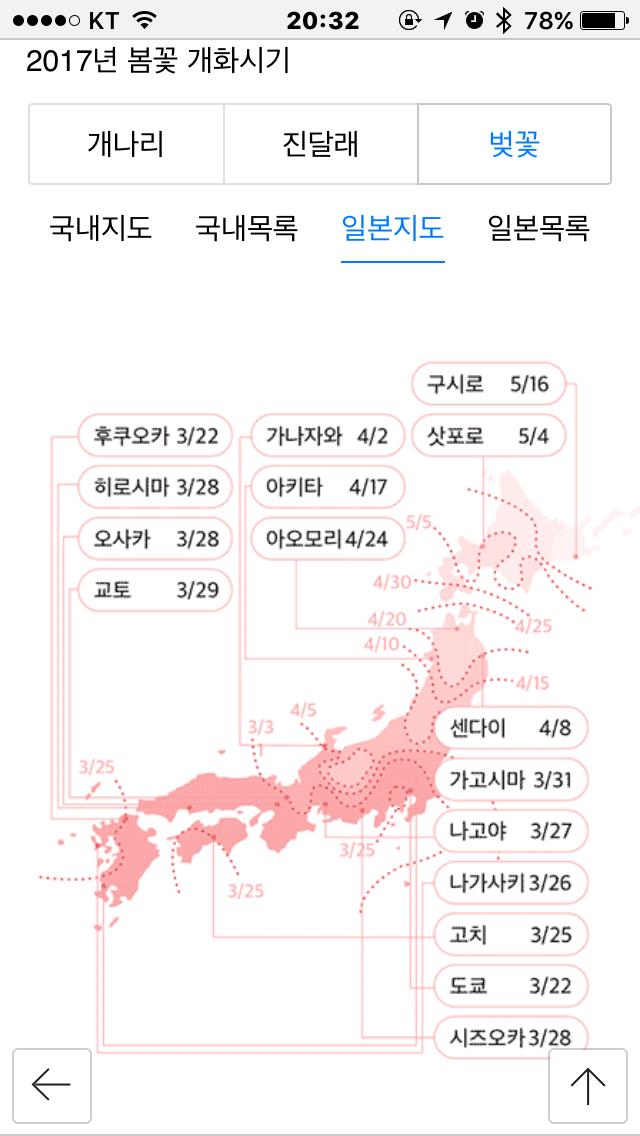 2017년 일본 개화 시기