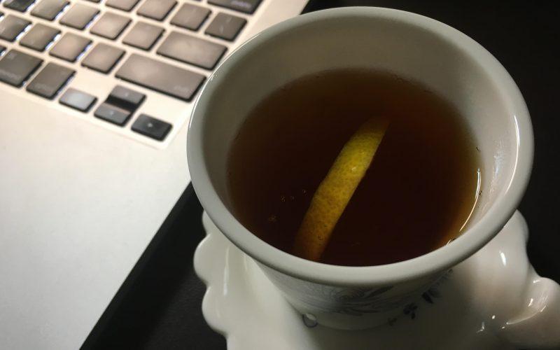레몬넣은 홍차