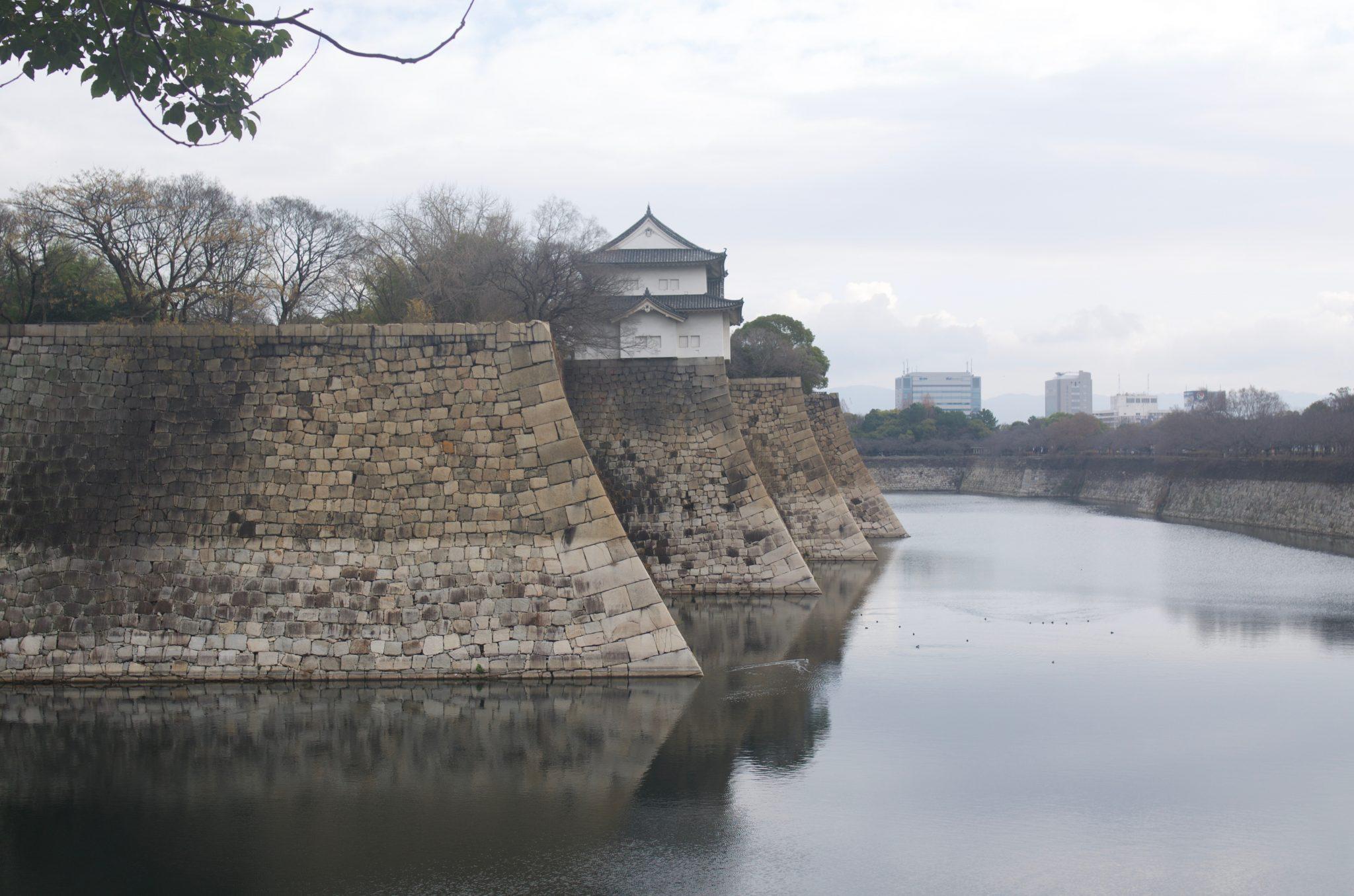 오사카성 해자 성벽