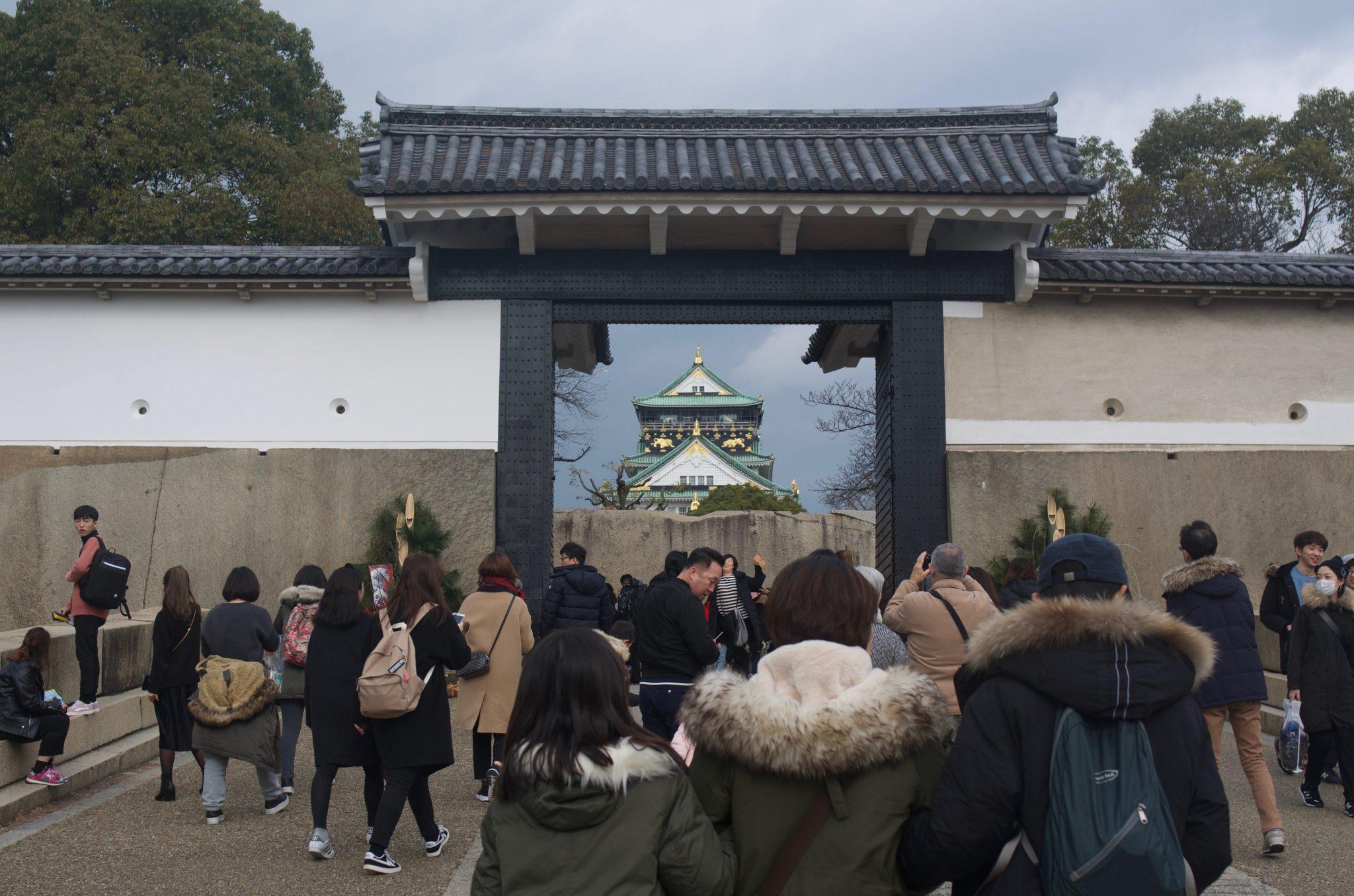 오사카성 입성