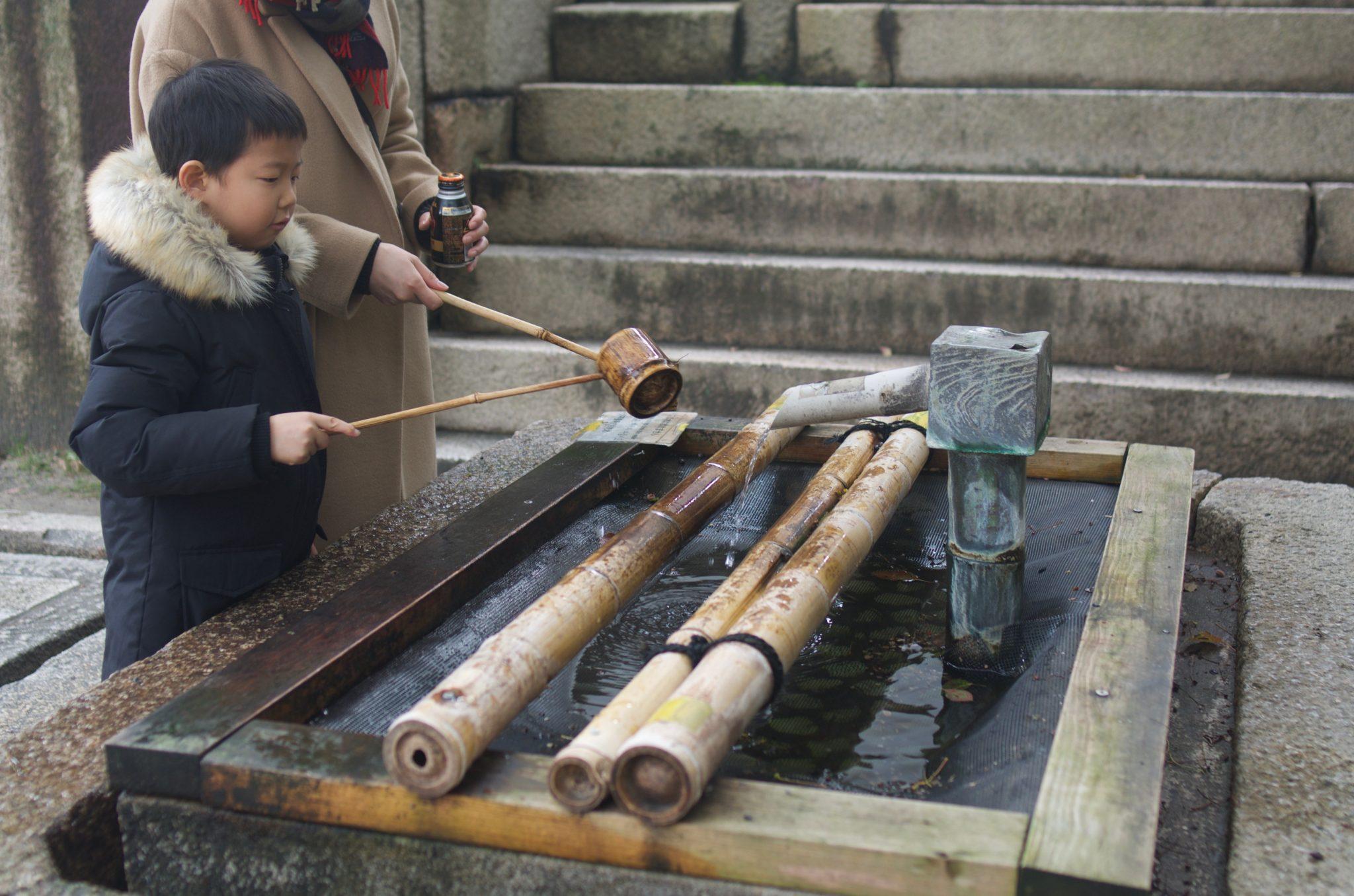 오사카성 바가지 물