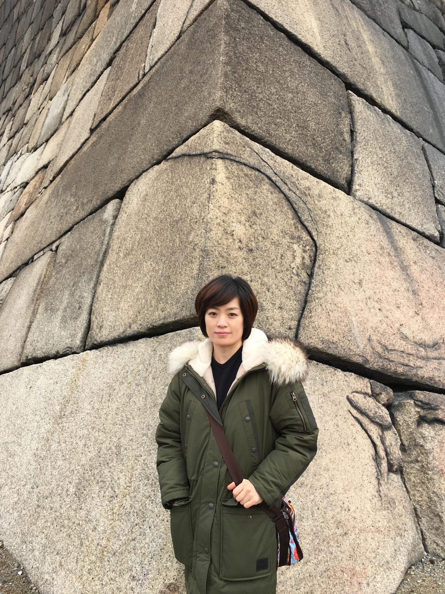오사카성 바위