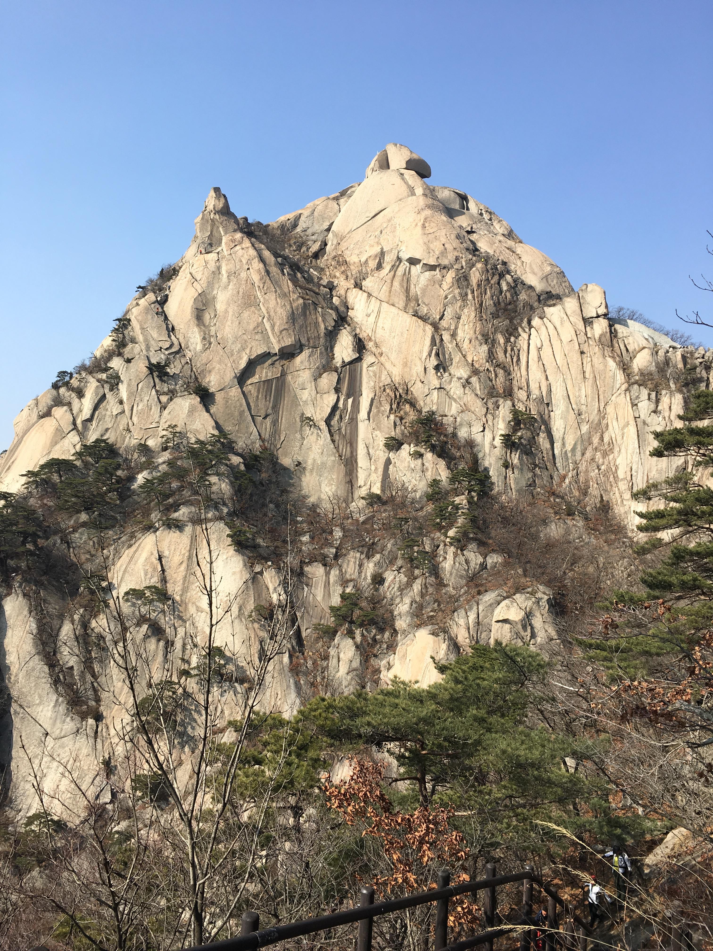 북한산 정상 백운대