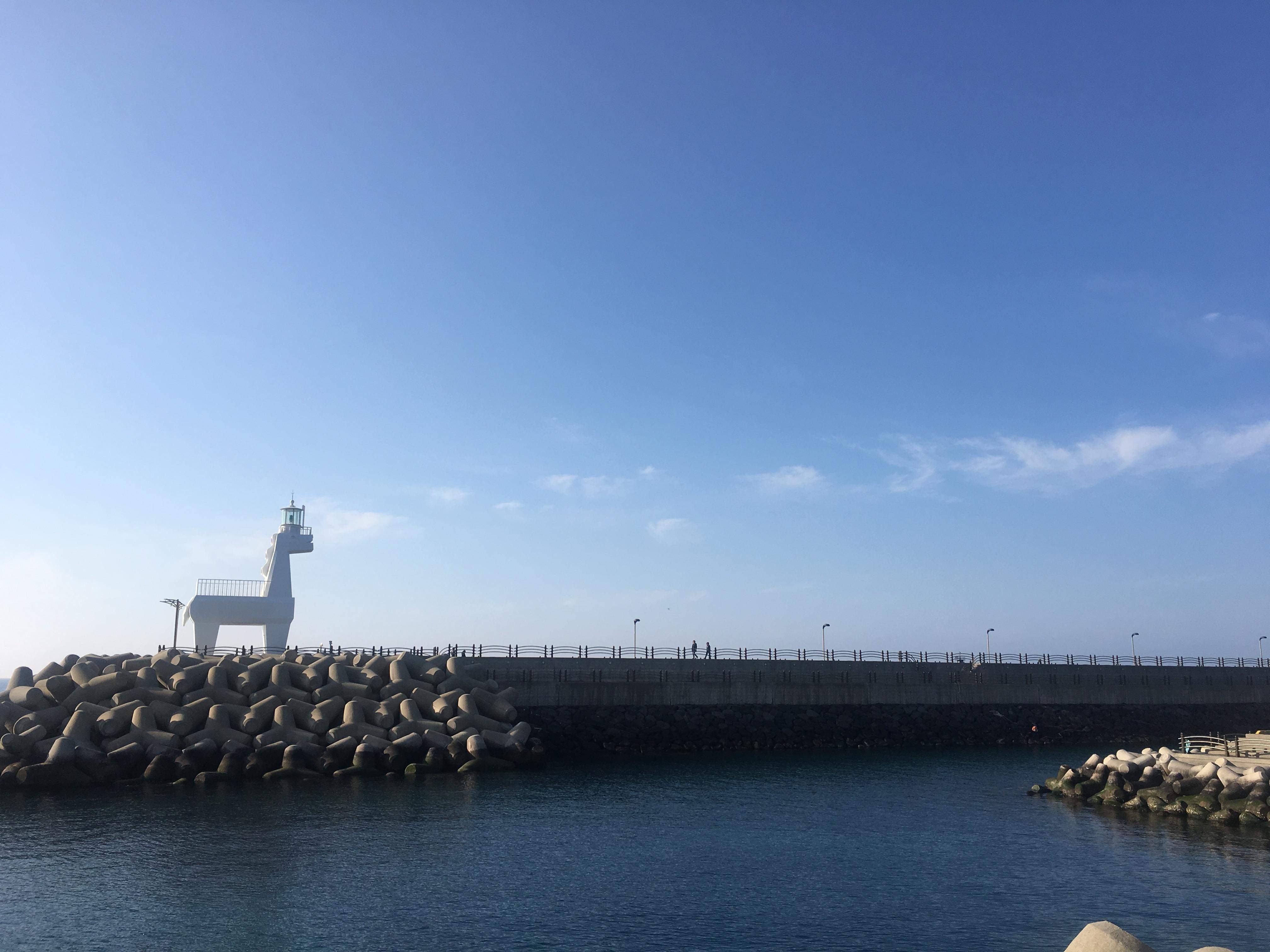 이호테우 해변의 트로이 목마 등대