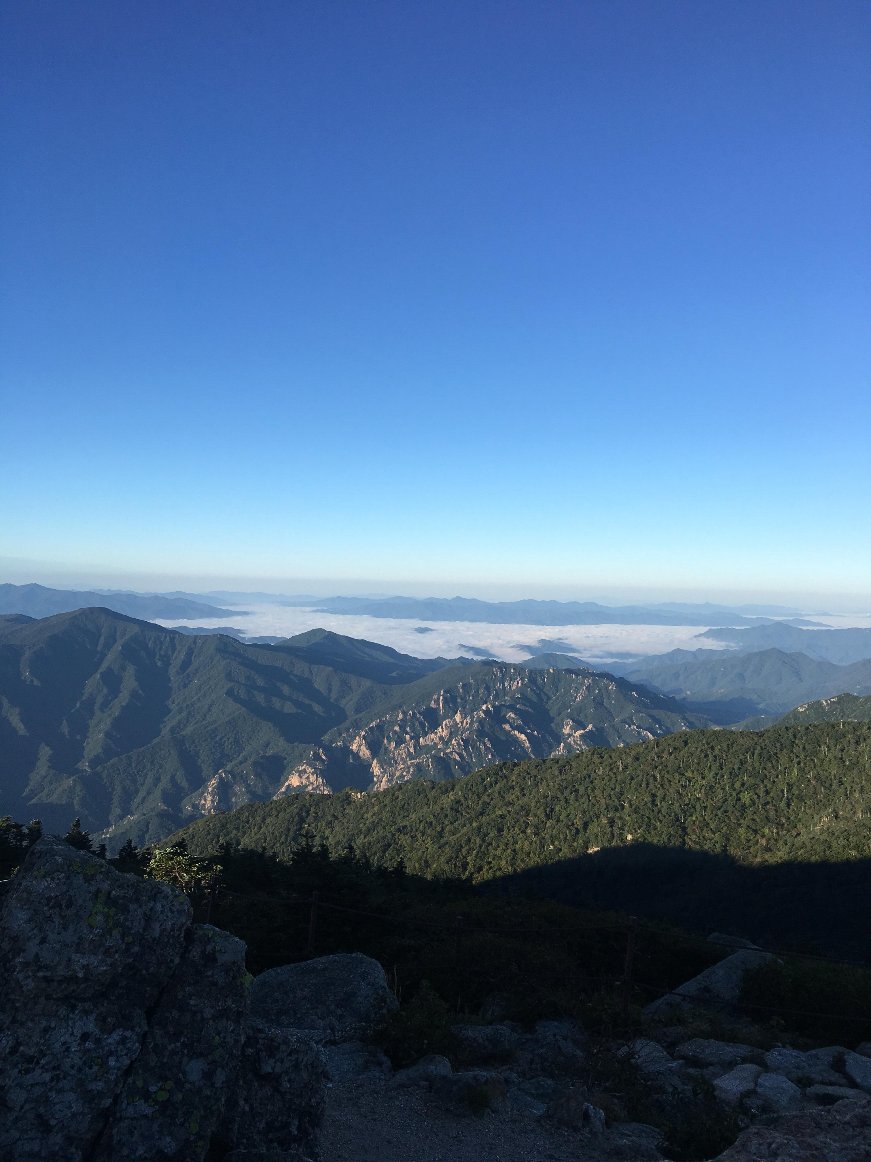 설악산 대청봉 풍경
