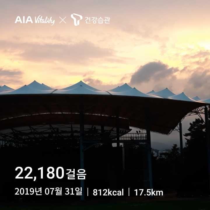 매일 2만보 - 20190731