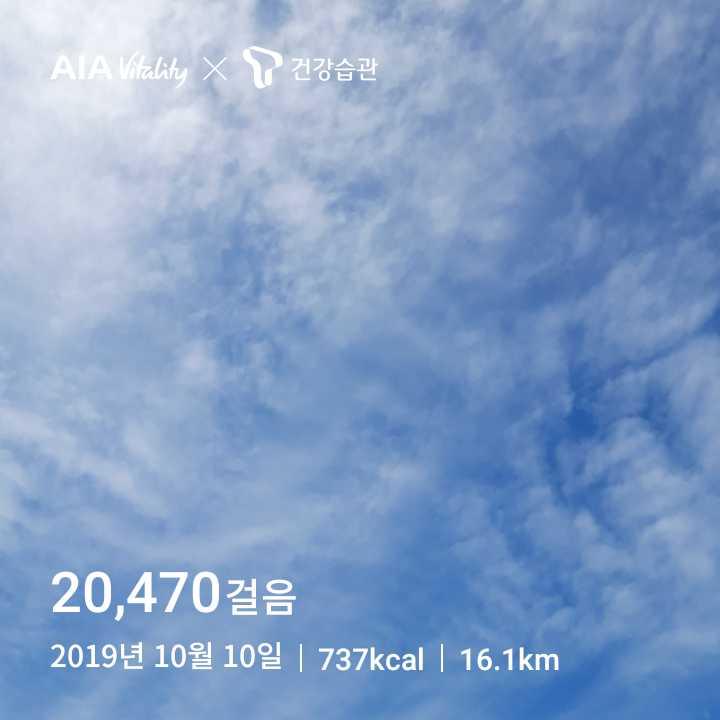[매일 2만보] 2019년 10월 10일 (목요일)